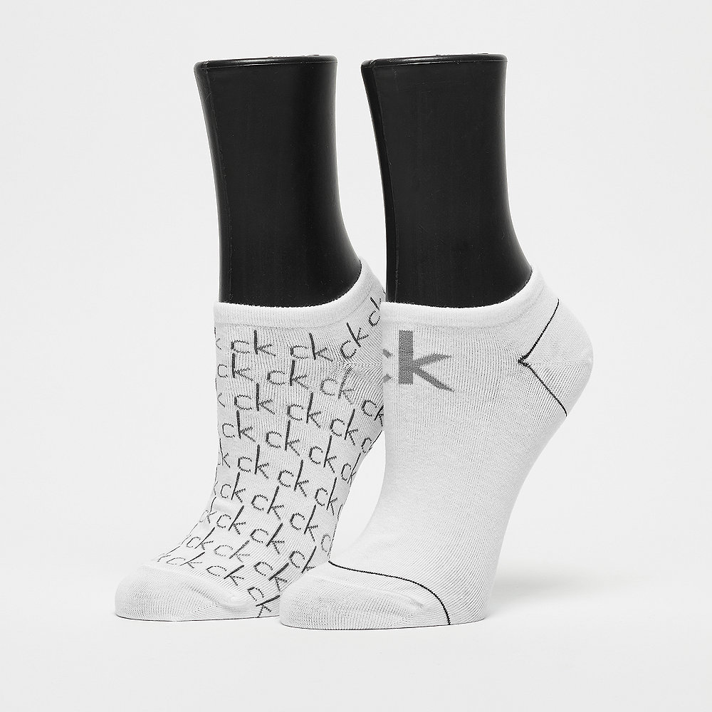 Calvin Klein 2 Pair Repeat Logo white