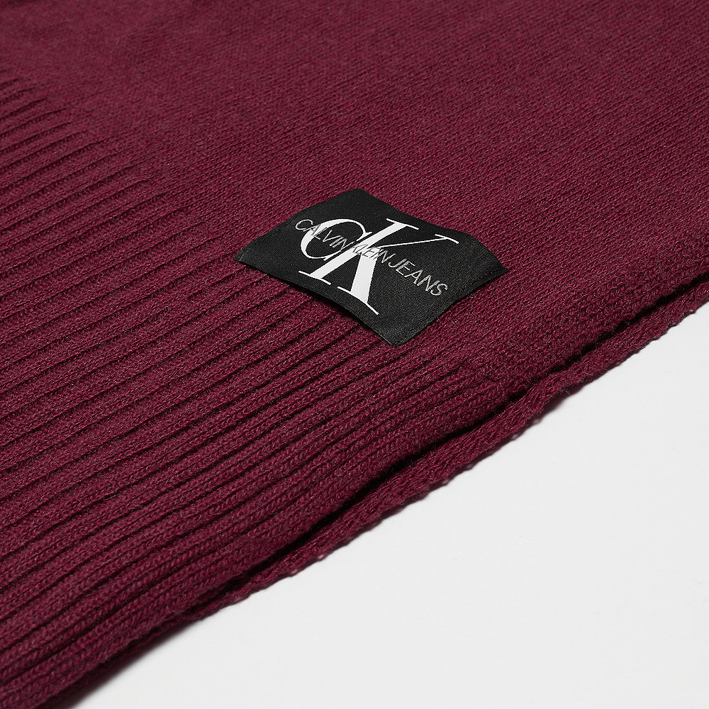 Calvin Klein Basic Knitted Scarf tawny port