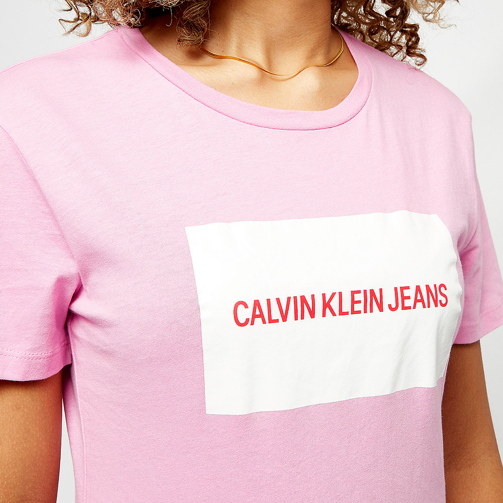Calvin Klein Box Slim Fit T-Shirt begonia pink/bright white