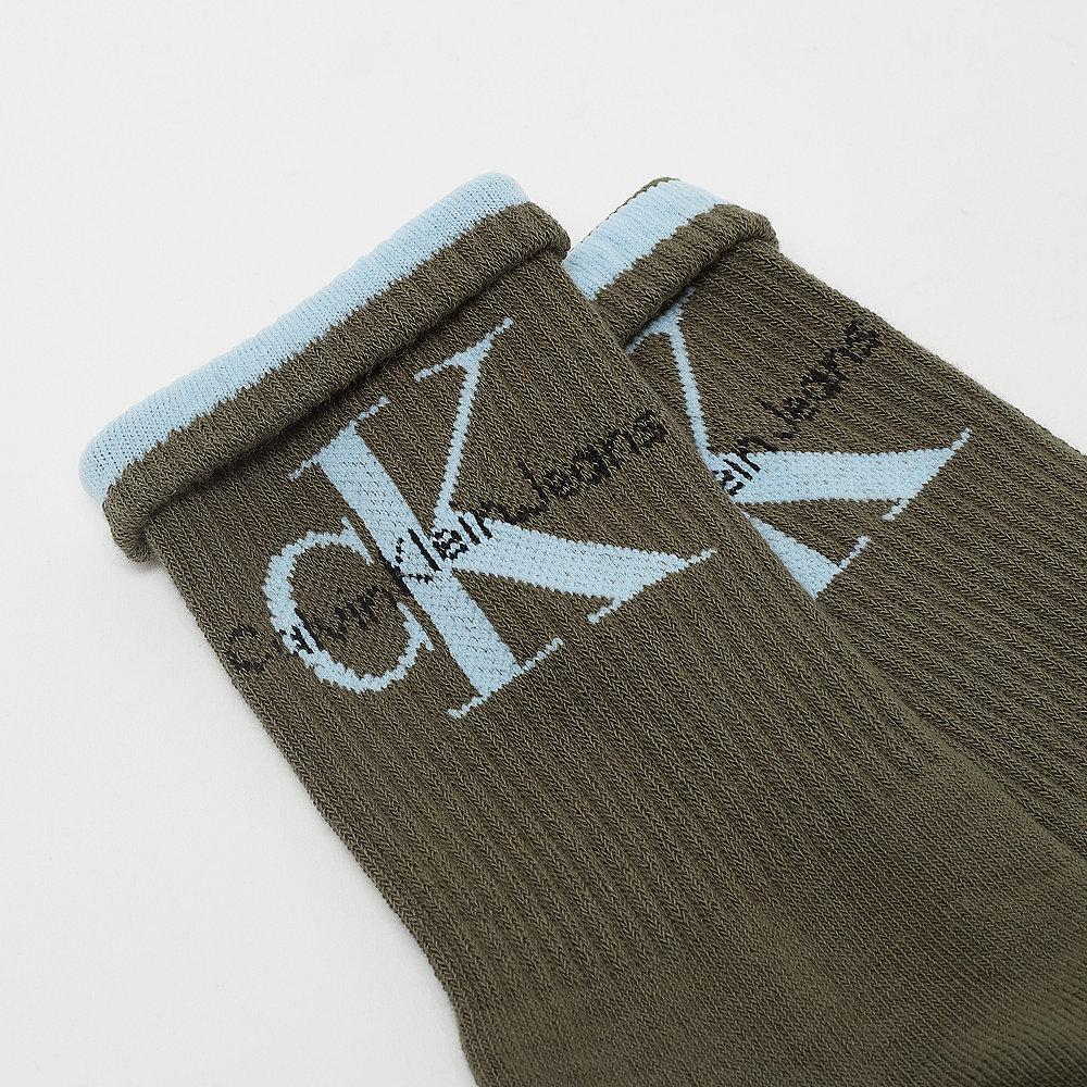 Calvin Klein Jeans logo olive