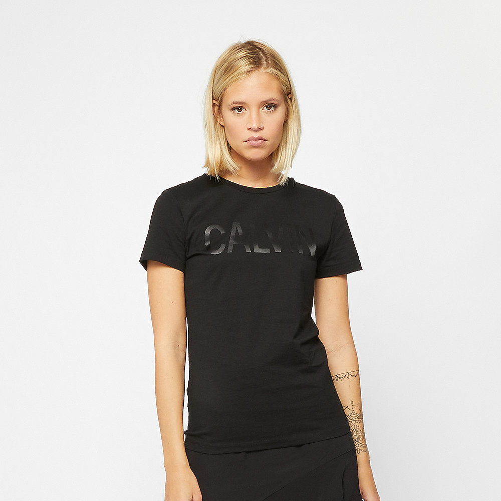 Calvin Klein Logo Slim Fit Satin T-Shirt calvin black
