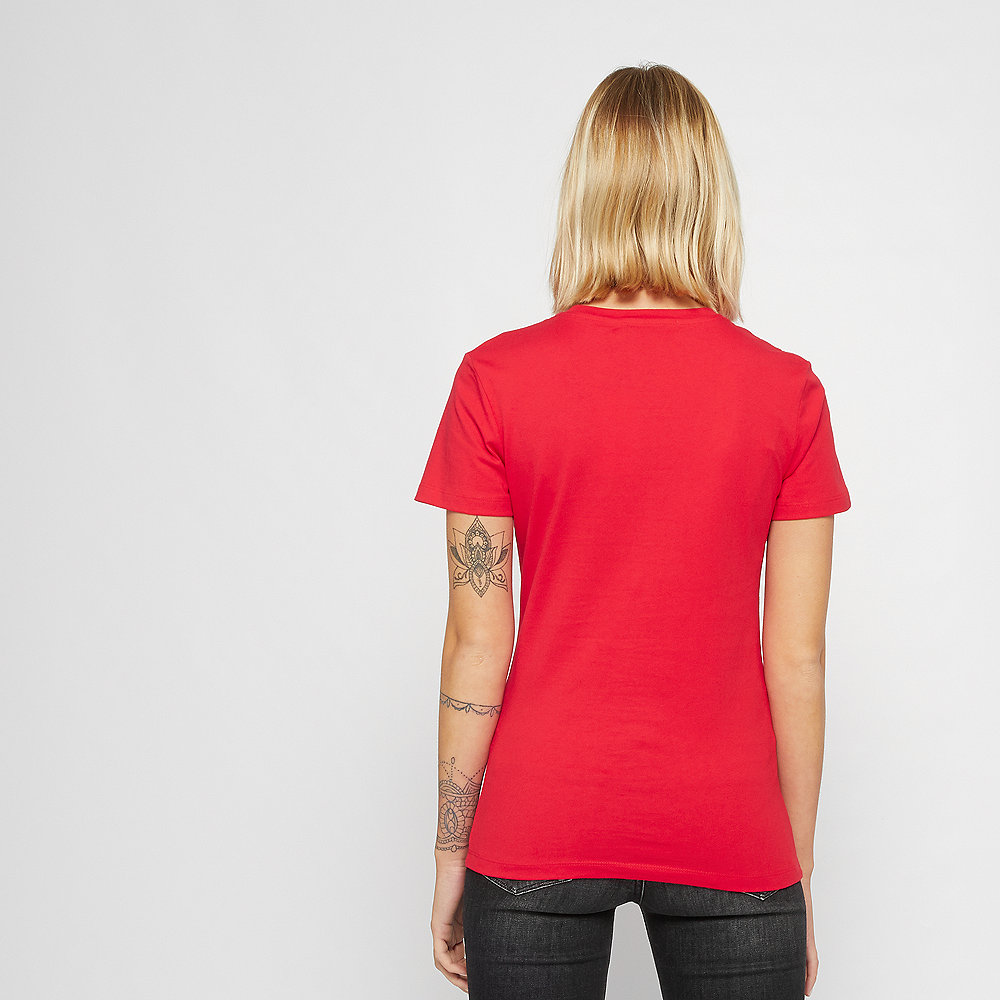 Calvin Klein Logo Slim Fit Satin T-Shirt racing red