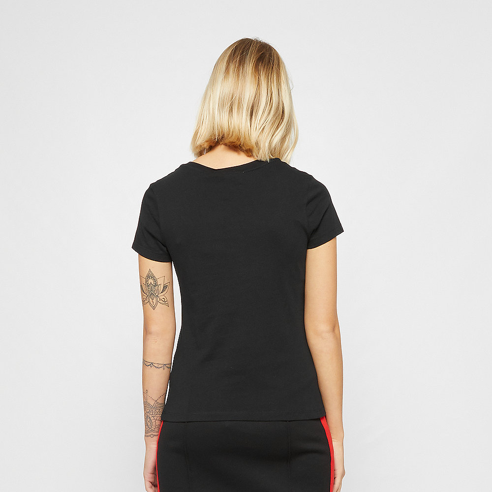 Calvin Klein Logo Slim Fit T-Shirt black/racing red