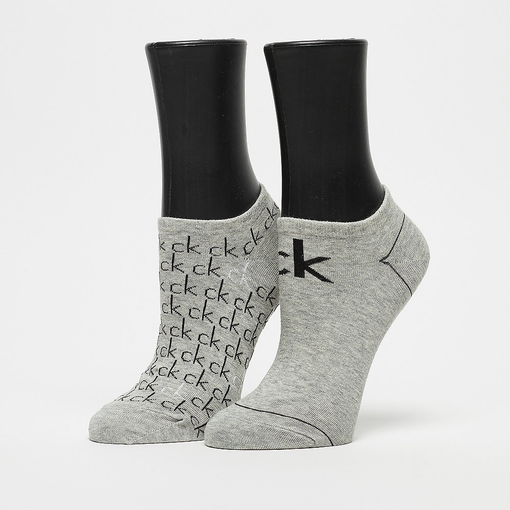 Calvin Klein 2 Pair Repeat Logo oxford heather