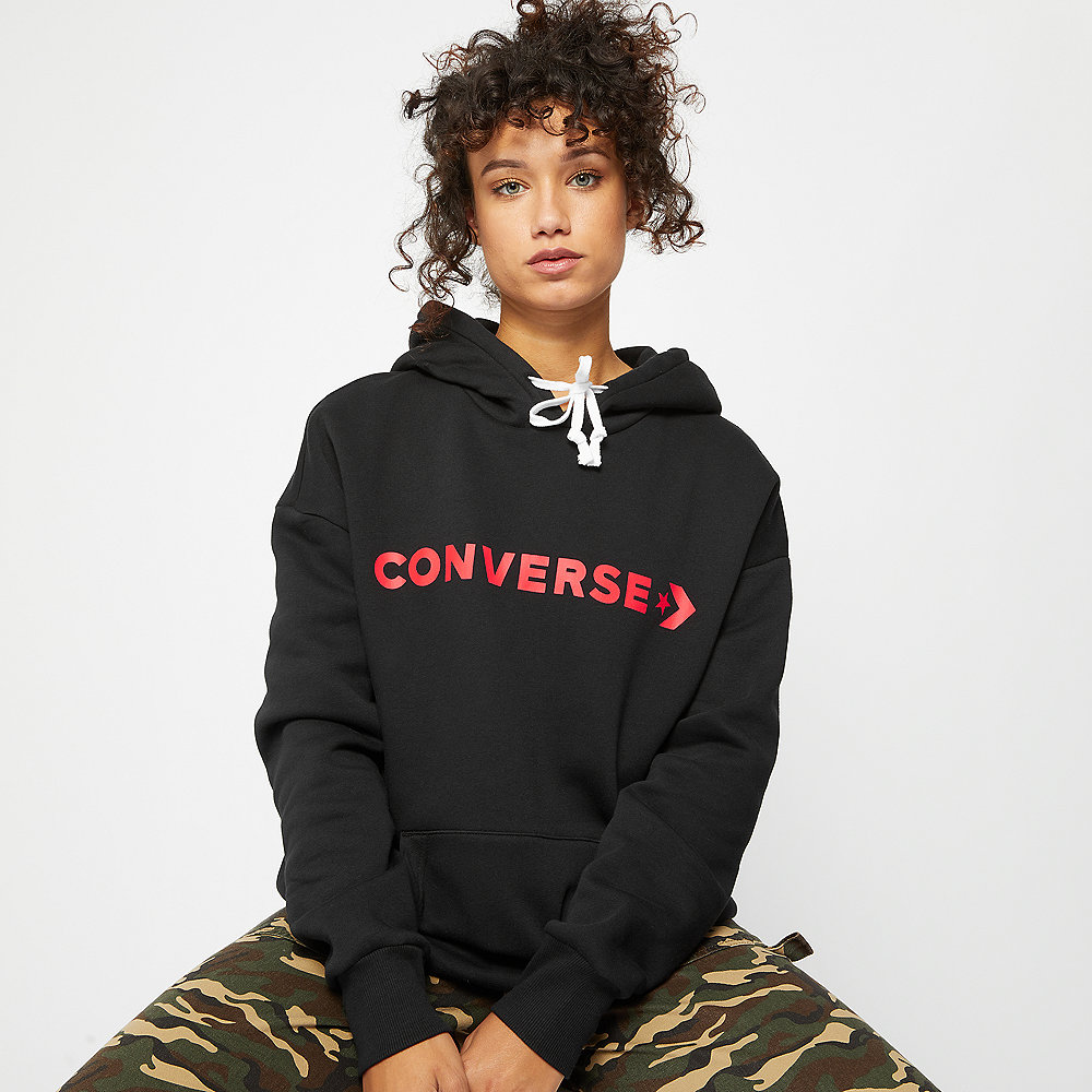 Converse Star Chevron Oversized Hoodie black