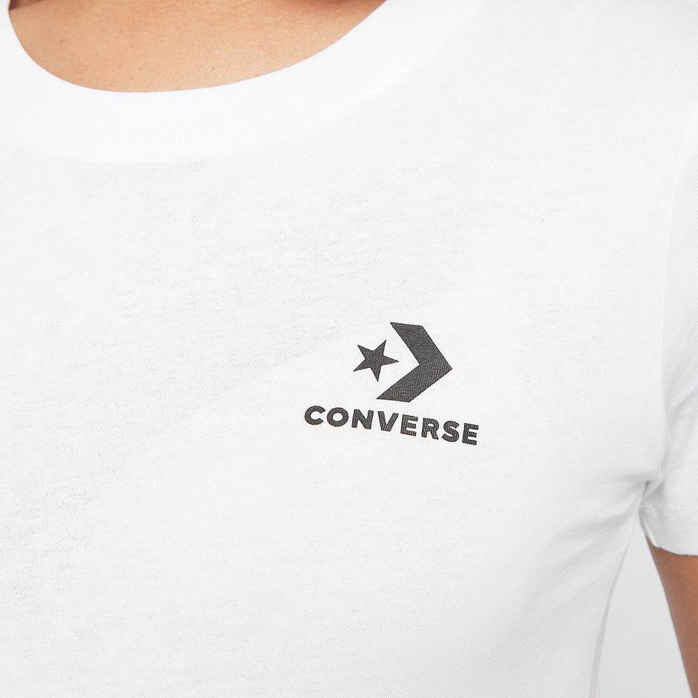 Converse Star Chevron Small Chest Logo Tee white
