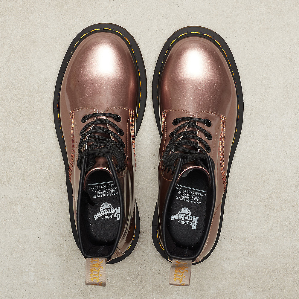 Dr. Martens 1460 Vegan rose gold chrome paint metallic