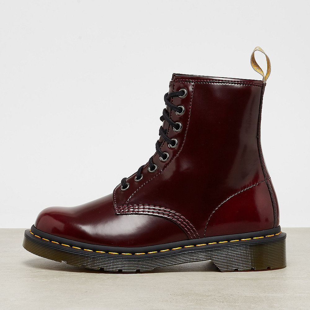 Dr. Martens Vegan 1460 Cherry Red Cambridge Brush
