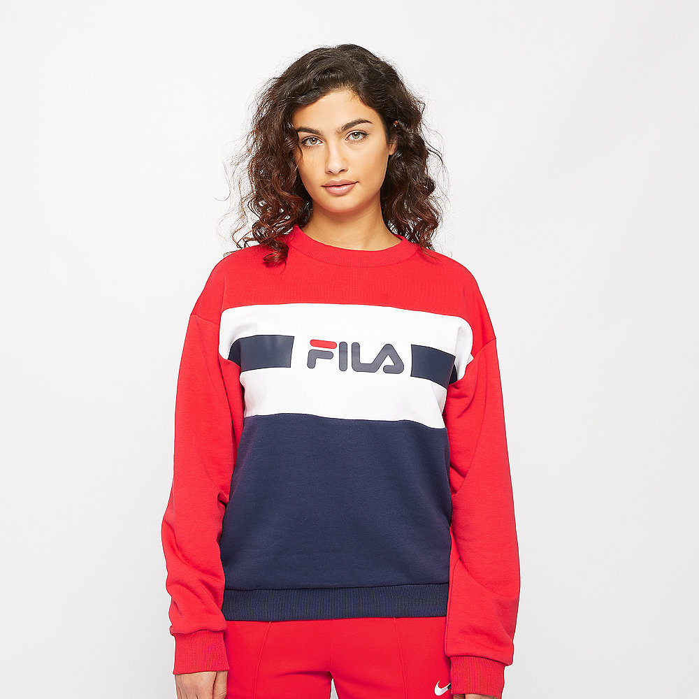 Fila ANGELA Crew Sweat 2.0 bright white-true re-black iris