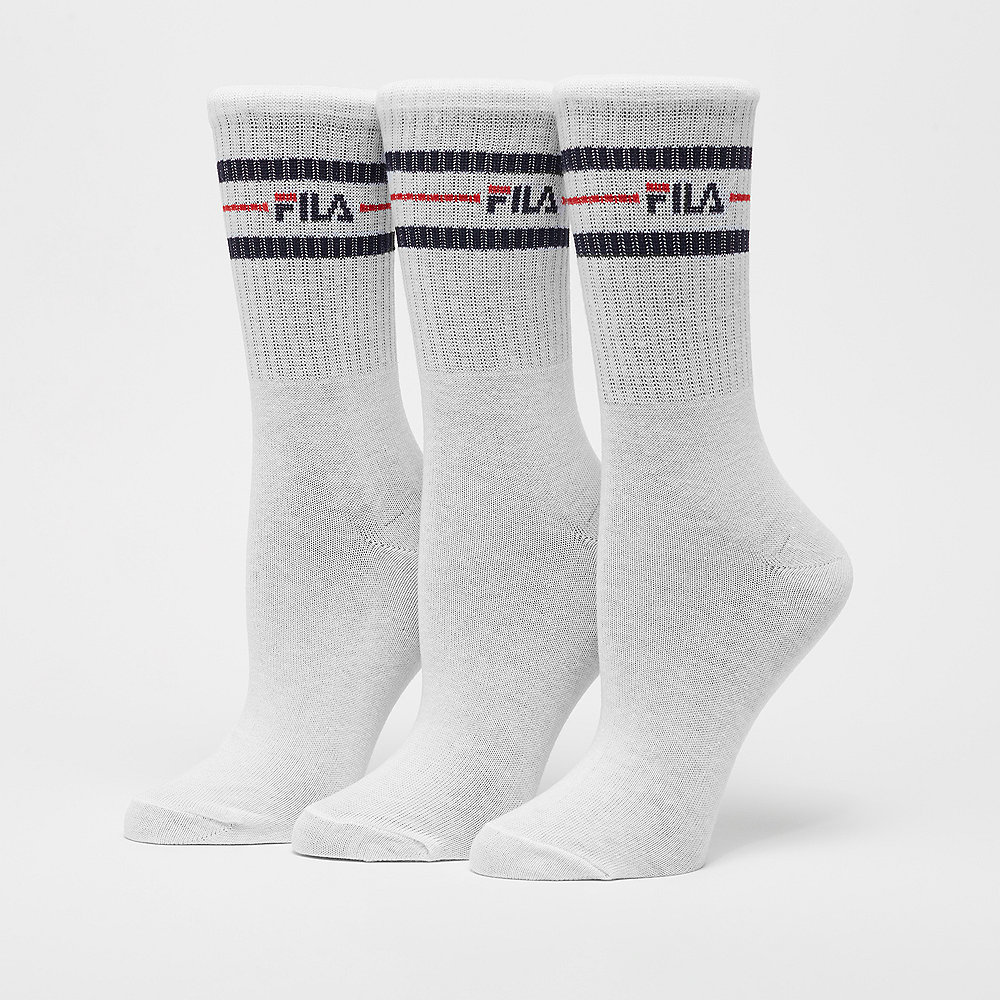 Fila Street Socks 3-Pack white