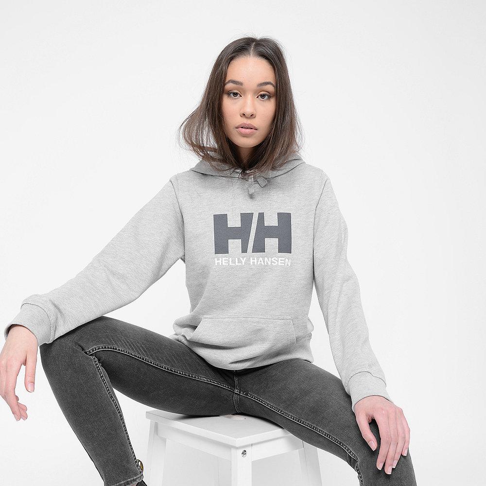 helly hansen Logo Hoodie grey melange