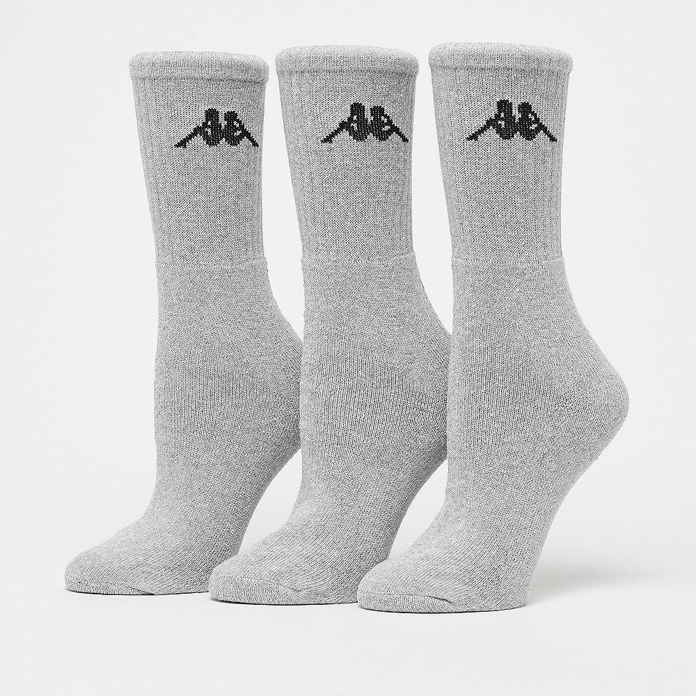 Kappa Sonotu Socks 3er-Pack grey melange