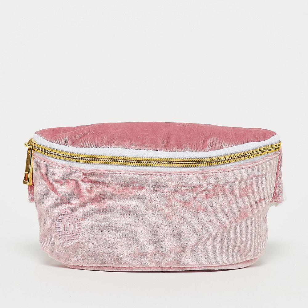 Mi-Pac Gold Bum Bag - Velvet dusky pink