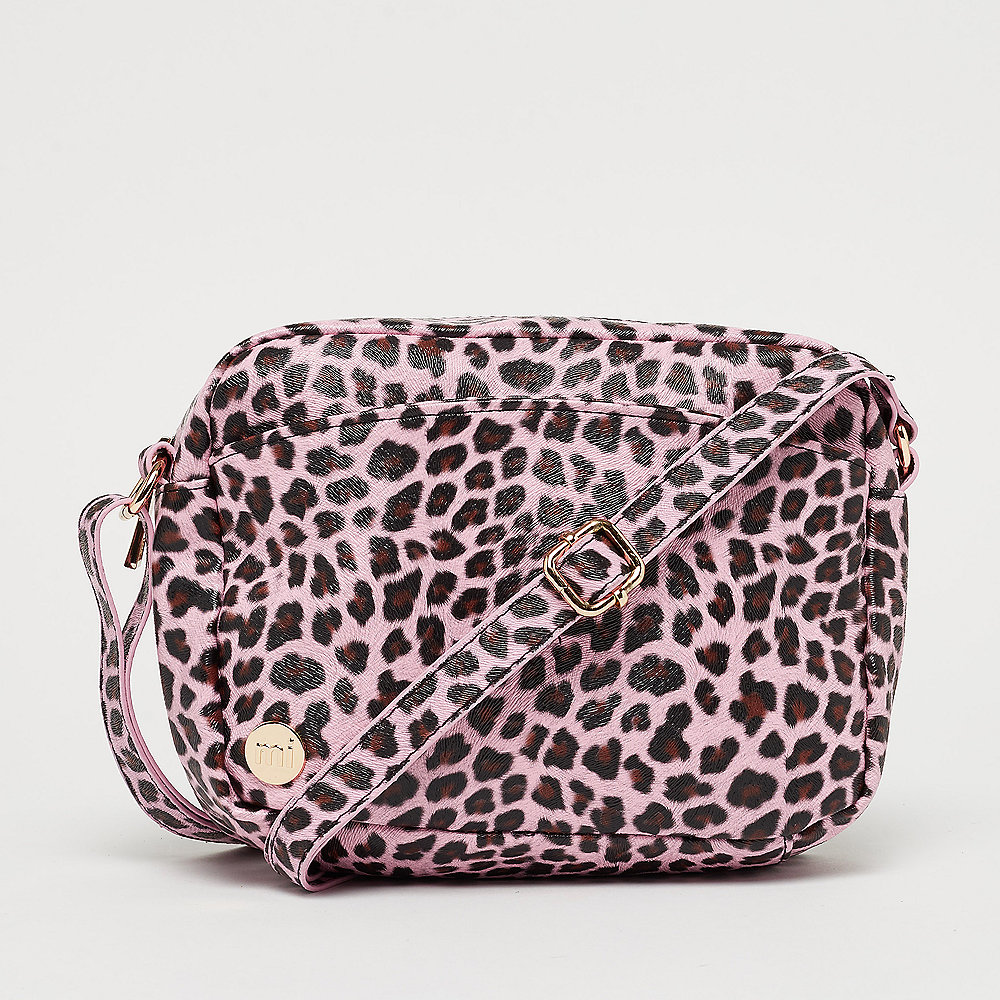Mi-Pac Gold Cross Body Bag - Cheetah pink