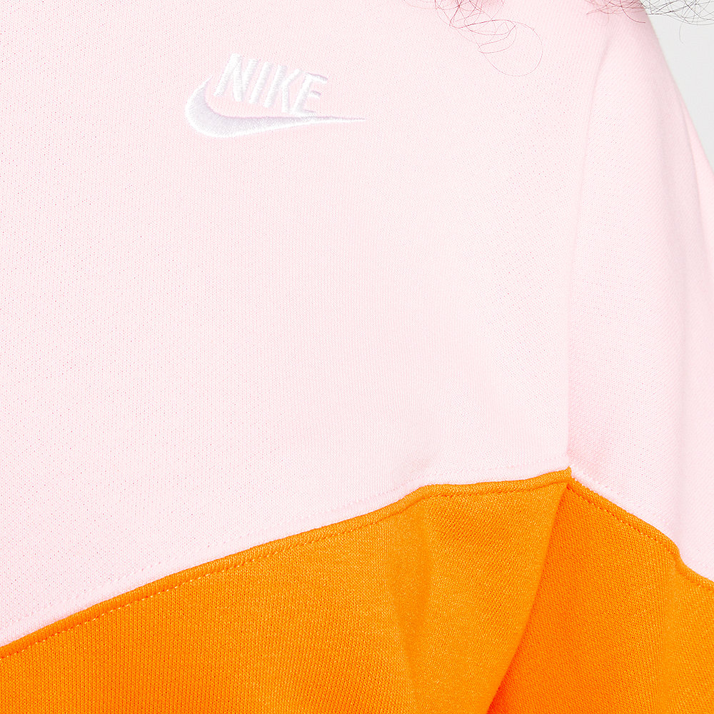NIKE NSW Heritage Crew Sweater orange peel/med soft pink/white