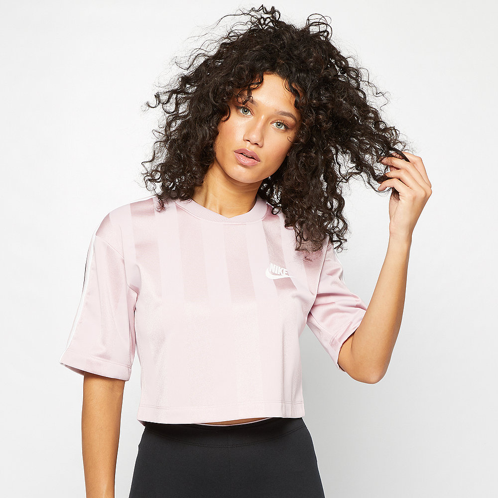 NIKE NSW T-Shirt SHDW STRP plum chalk/white