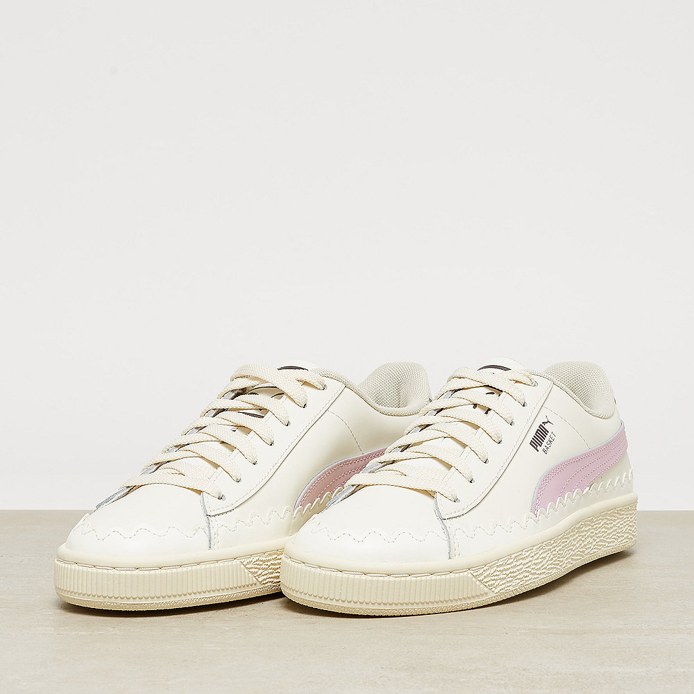 Puma Basket Rubberized whisper white/winsome orchid