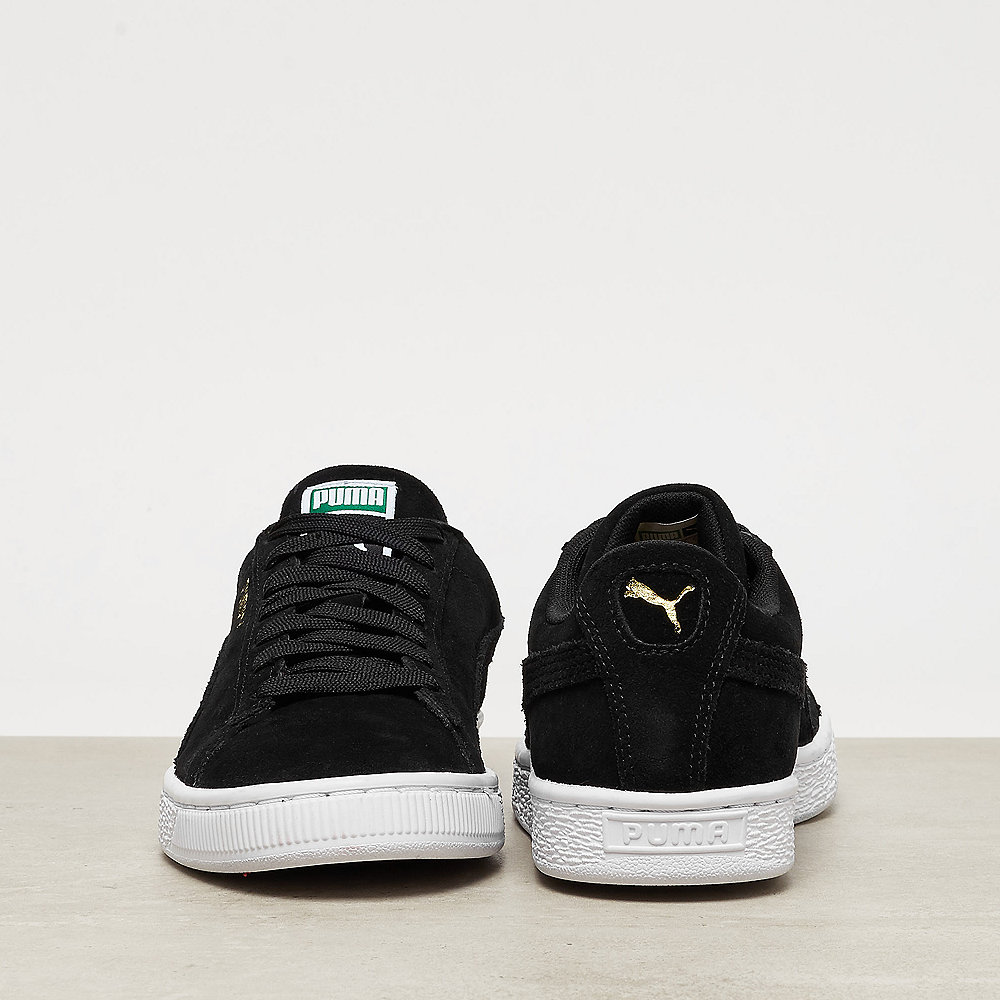 Puma Suede Classic+ black-team gold-white