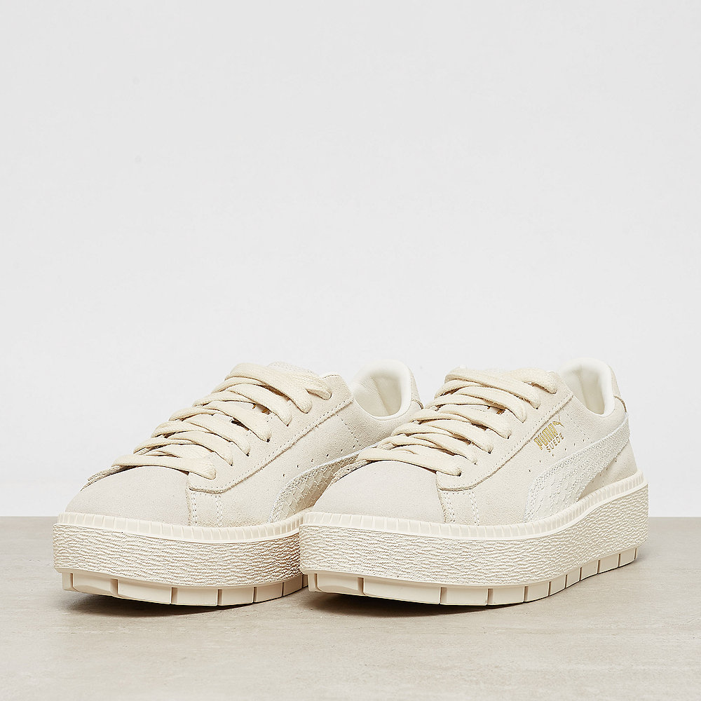 Puma Suede Platform Trace Animal whisper white-metallic gold