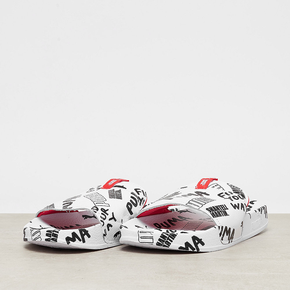 Puma Leadcat Graphic SM puma white-puma black-spiced coral