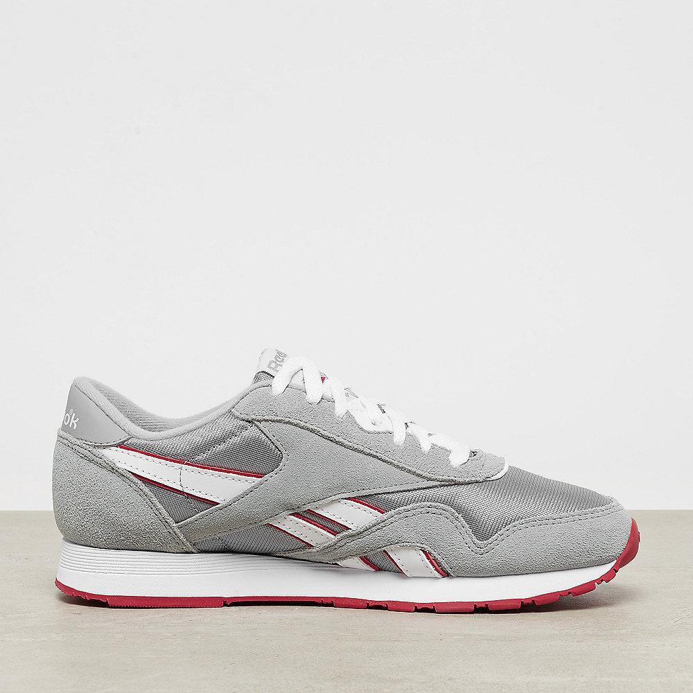 Reebok Classic Leather Nylon archive baseball grey/white/flash red