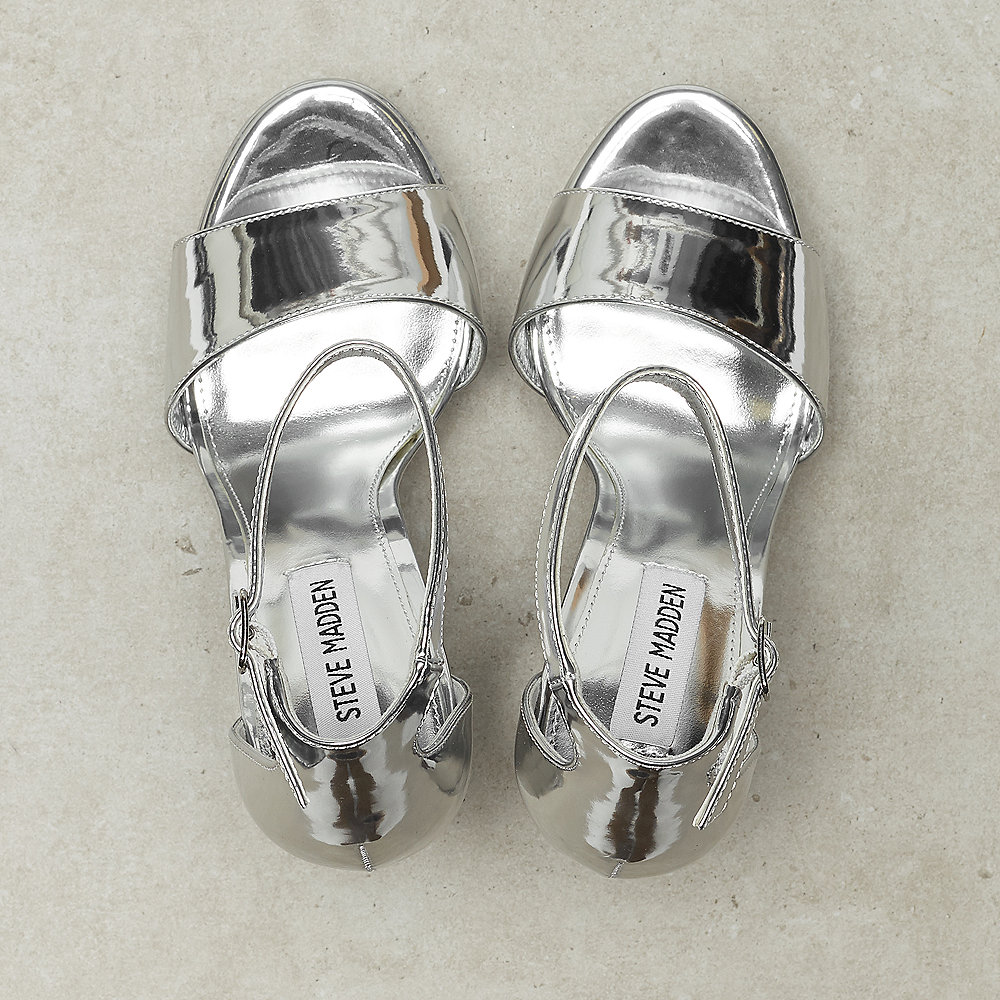 Steve Madden Gonzo silver metallic