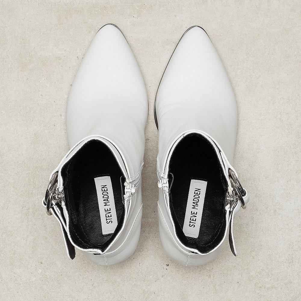 Steve Madden Johannah white leather