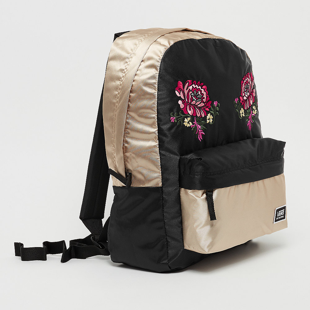 Vans Deana Festival Embroidery Backpack gold shine