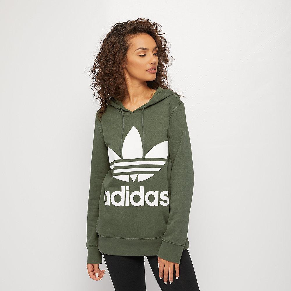 adidas Trefoil Hoodie base green