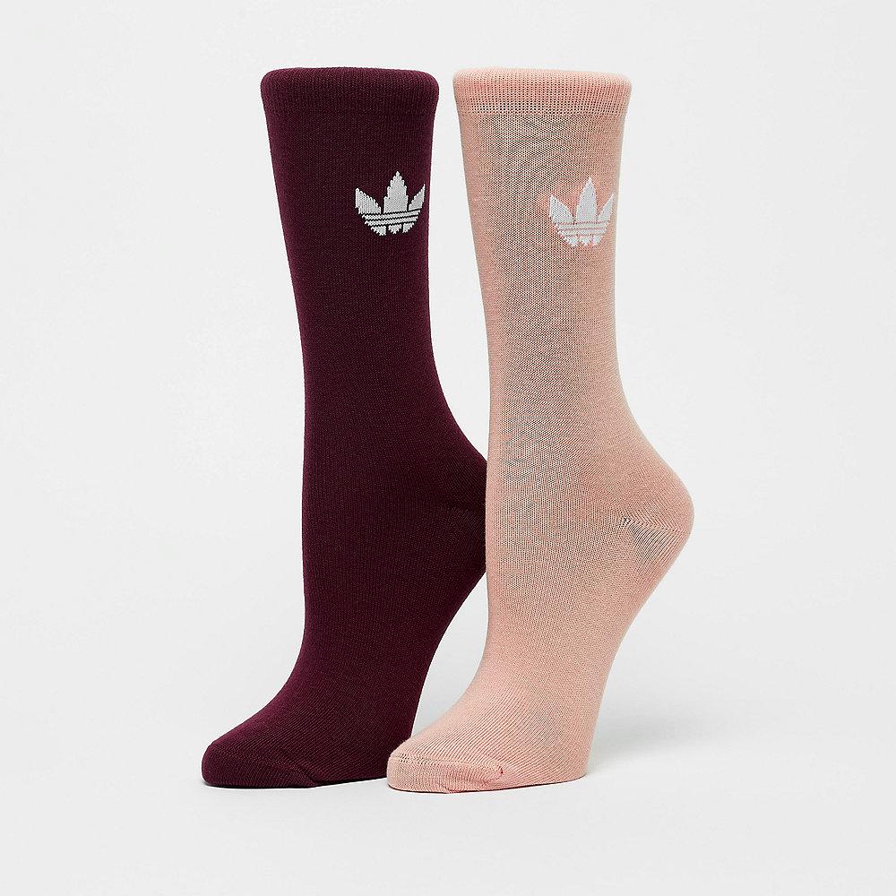 adidas Thin Tref Crew maroon/white/dust pink