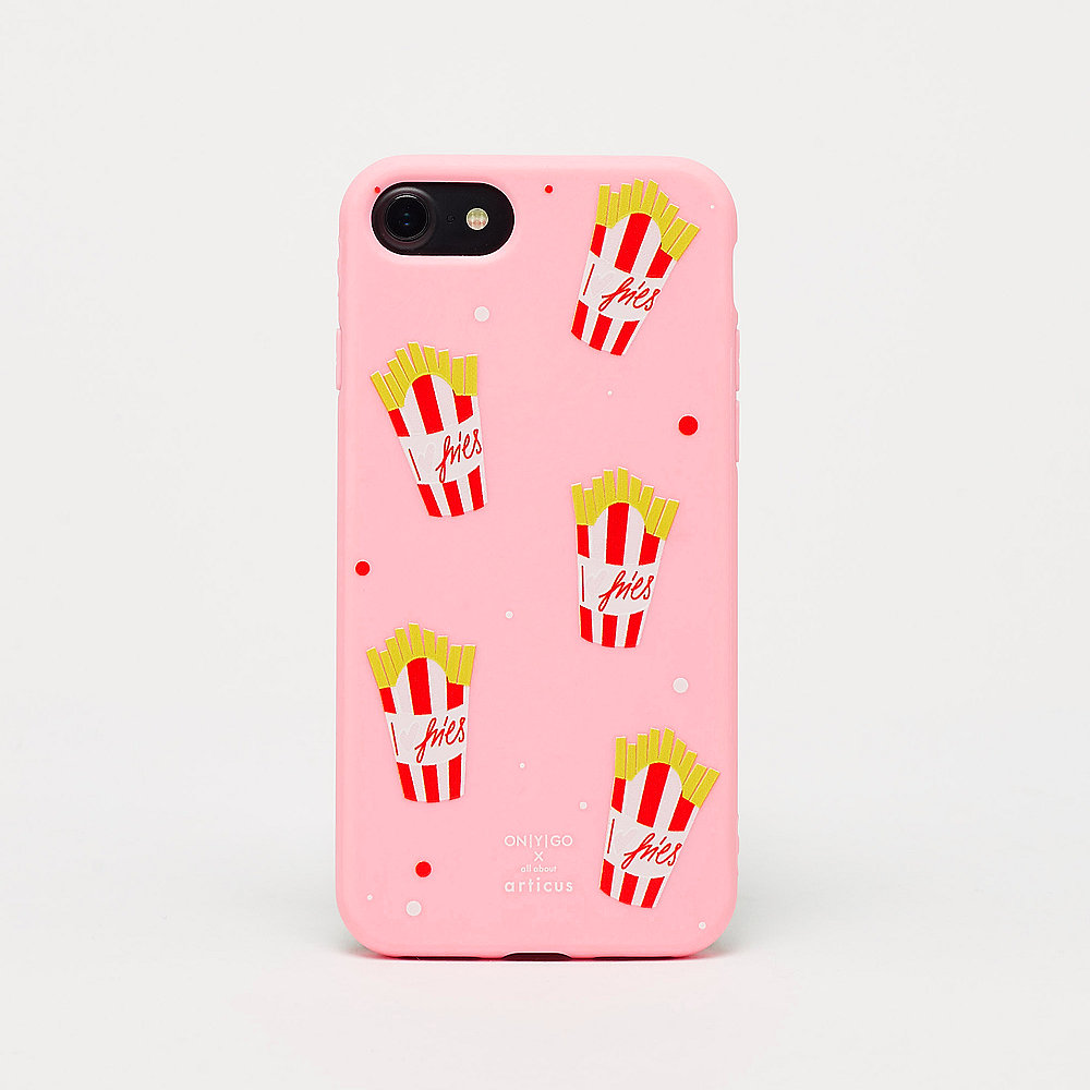 allaboutarticus MORE FRIES pink iPhone Case