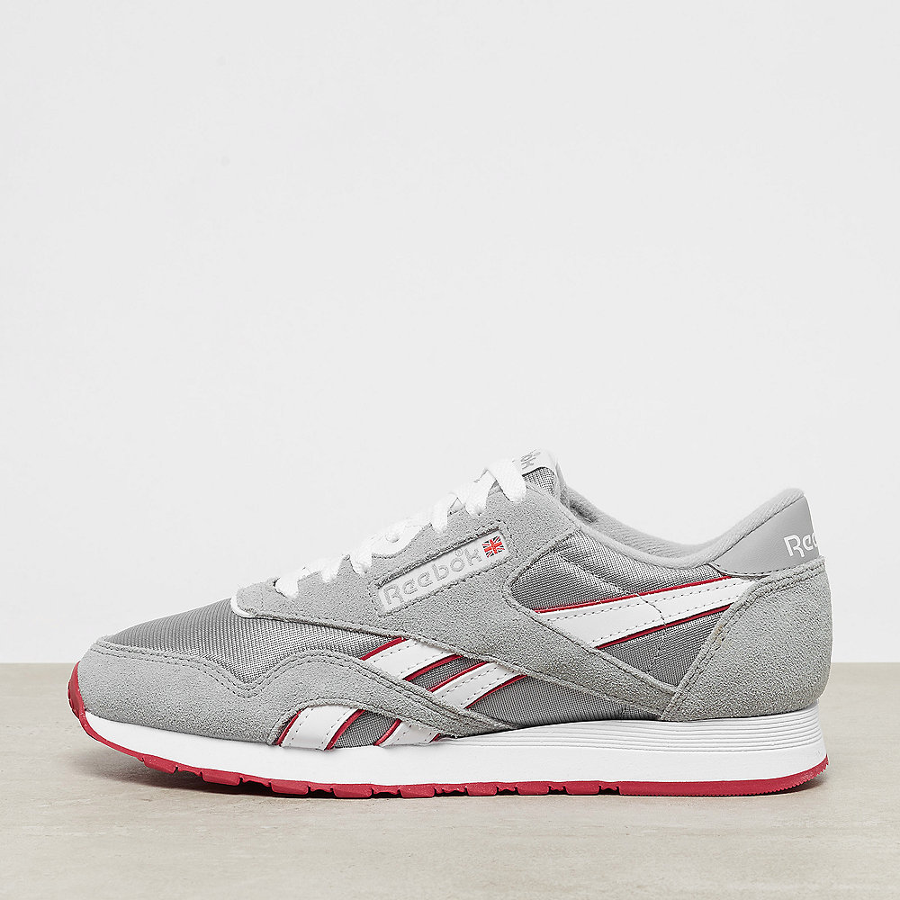 b5cda4ff7a9 ... new zealand reebok classic leather nylon archive baseball grey white  flash red 80ac2 9c3ea
