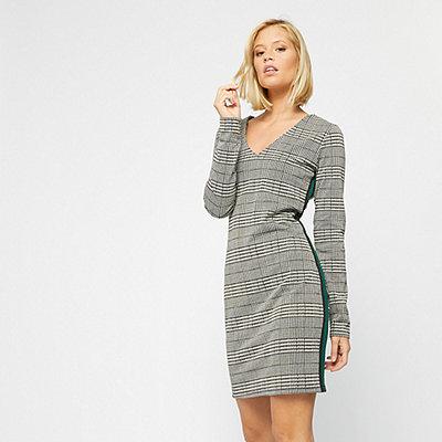 Eksept Check Dress grey