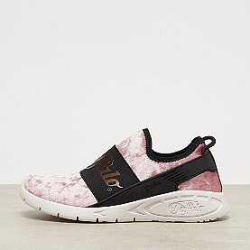 Buffalo Flat Trainer No Laces rose white
