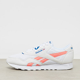 Reebok CL Nylon M TXT retro-white/digital pink/instinct blue