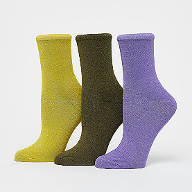 Nümph Kingcity 3-Pack Glitter Socks multi glitter flieder