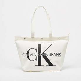 Calvin Klein Bottom Tote Monogram bright white