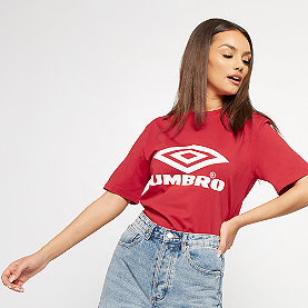 Umbro Boyfriend Fit Logo Tee riot red
