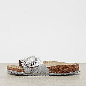 Birkenstock Madrid Big Buckle VL Washed metallic blue silver