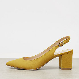 ONYGO Slingback Pumps mid block heel yellow