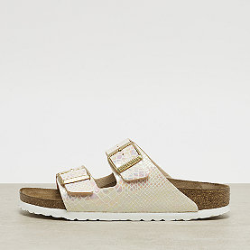 Birkenstock Arizona shiny snake cream