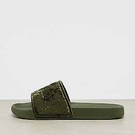 Buffalo Flat Slipper olive white