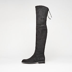 Buffalo Overknee Flat Heel black
