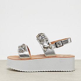 Buffalo Platform Sandal Stones silver