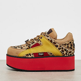 Buffalo London Buffalo Rising Towers Low Leopard suede/fur