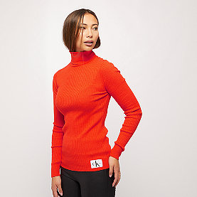Calvin Klein Wool Blend Rib Turtleneck red