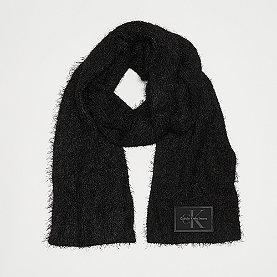 Calvin Klein Fuzzy Scarf black