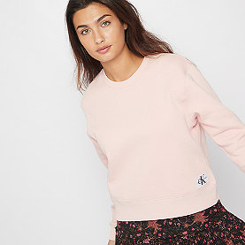 Calvin Klein Monogram Badge Relaxed Crew Neck chintz rose