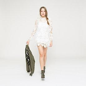 Edited Liana Dress creme/weiß