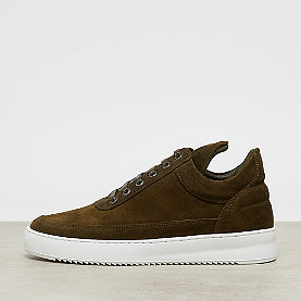 Filling Pieces Low Top Ripple Waxed Suede army green